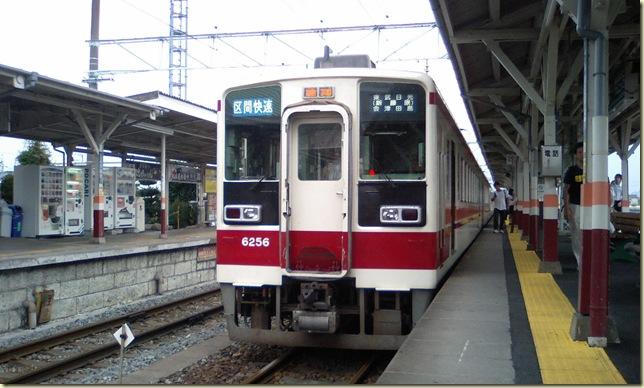 東武6050系 新鹿沼にて
